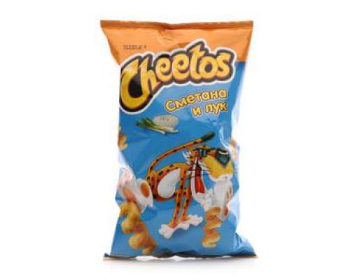 Снеки кукурузные со вкусом сметаны и лука ТМ Cheetos (Читос)