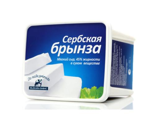 Сыр ТМ Mlekara Sabac (Млекара Шабац), Сербская брынза 45% 950 г