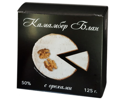 Сыр Камамбер Блан ТМ Томмолоко, с орехами, 50%, 125 г