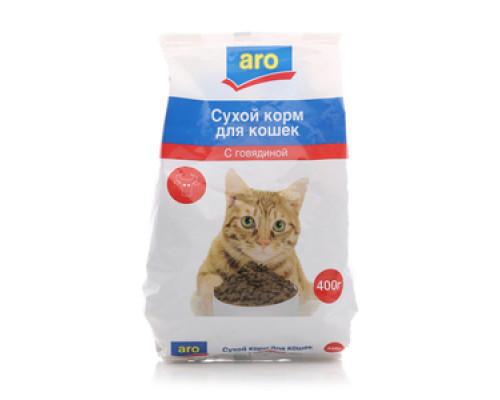 Корм сухой для кошек с говядиной ТМ Aro (Аро)