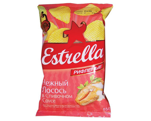 Чипсы ТМ Estrella (Эстрелла), лосось 60 г