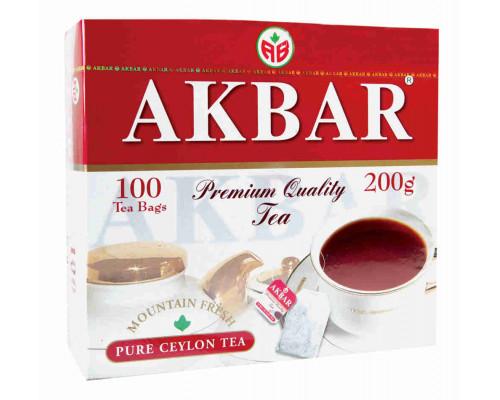 Чай черный ТМ Akbar (Акбар), 100 пакетиков 200 г