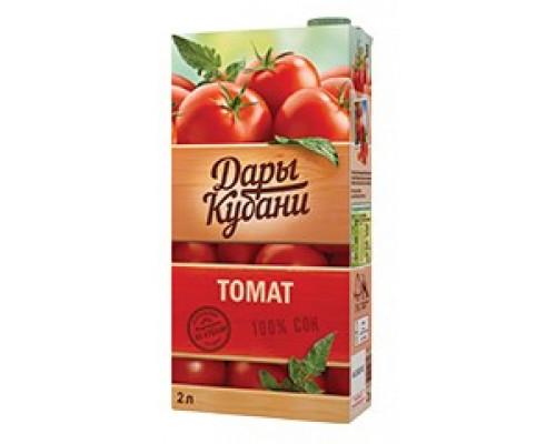 Сок ТМ Дары Кубани, томат с мякотью, 2 л