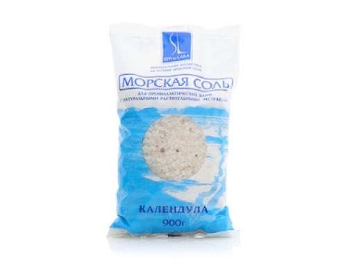 Морская соль Календула для профилактических ванн с натуральными растительными эктрактами ТМ Spa by Lara (Спа бай Лара)