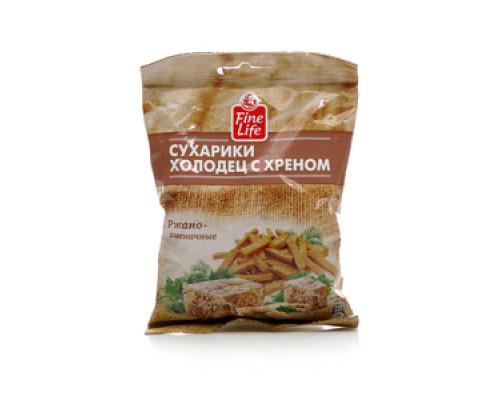 Сухарики холодец с хреном ржано-пшеничные ТМ Fine Life (Файн Лайф)