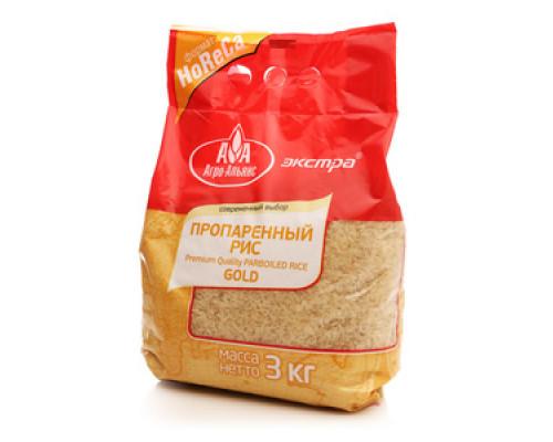 Рис пропаренный Золотистый ТМ Агро-Альянс Экстра