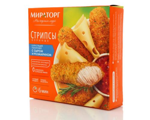 Стрипсы куриные с сыром и розмарином ТМ Мираторг