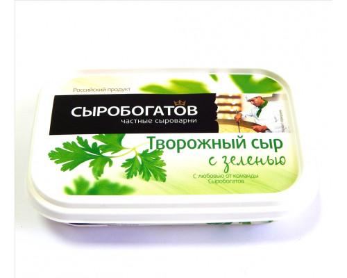 Сыр творожный с зеленью, Сыробогатов 140 г