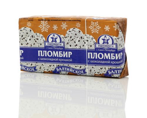Мороженое Пломбир балтийский с шоколадной крошкой ТМ Хладокомбинат № 1