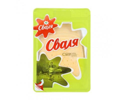 Сыр ТМ Сваля, полутвердый, нарезка, 50%, 200 г