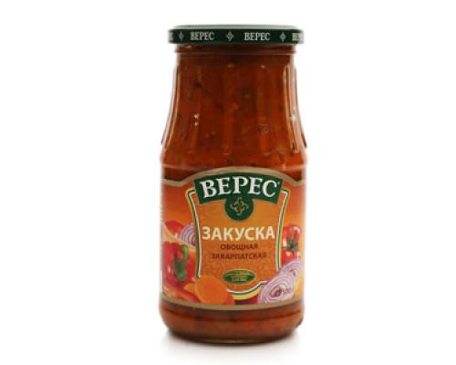 Закуска с овощами Закарпатская ТМ Верес