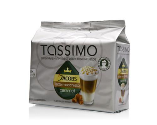 Кофе натуральный молотый Latte macchiato (Латте маккиато) со вкусом карамели ТМ Tassimo (Тассимо)