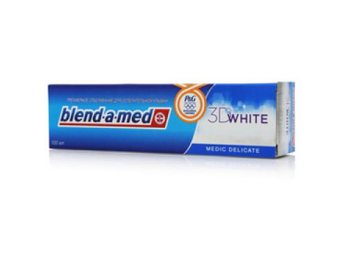 Зубная паста ТМ Blend-a-med 3D White (Бленд-а-мед 3Д Вайт) Трёхмерное отбеливание Medic Delicate (Медик Деликат)