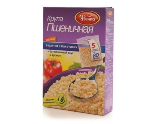 Крупа ТМ Увелка пшеничная, в пакетах для варки, 5 шт по 80 г
