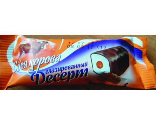 Десерт ТМ Своя Корова, глазированный, вареная сгущенка, 23%, 40 г