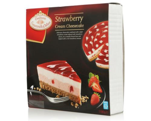 Творожно-клубничный торт замороженный ТМ Conditorei Coppenrath and Wiese (Кондиторей Коппенрат и Виз)
