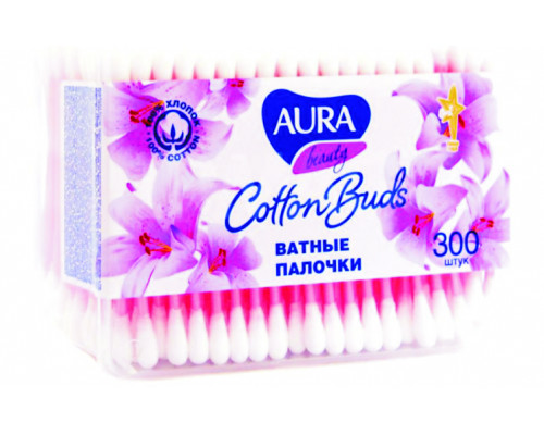 Ватные палочки ТМ Aura (Аура) Cotton Buds, 300 шт.