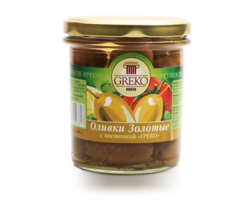 Оливки золотые с косточкой ТМ Greko (Греко)