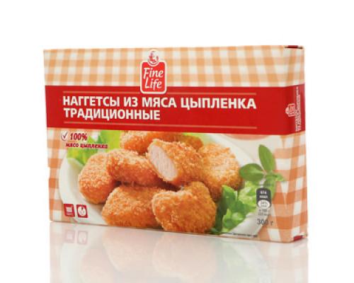 Наггетсы из мяса цыпленка традиционные ТМ Fine Life (Файн Лайф)