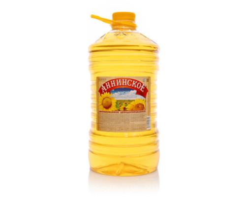 Подсолнечное масло ТМ Аннинское рафинированное, дезодорированное