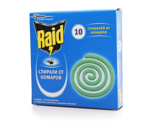 Спирали от комаров ТМ Raid (Рэйд), 10 шт