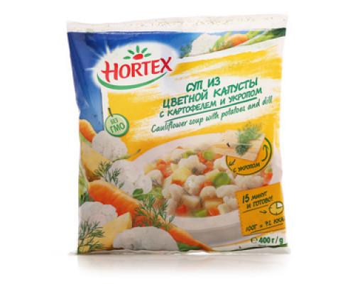 Овощная смесь Суп из цветной капусты с картофелем и укропом ТМ Hortex (Хортекс)