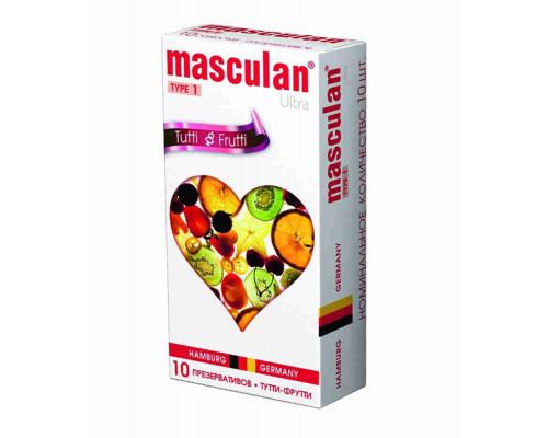 Презервативы Masculan 1 Ultra Тутти-фрутти нежные 10шт