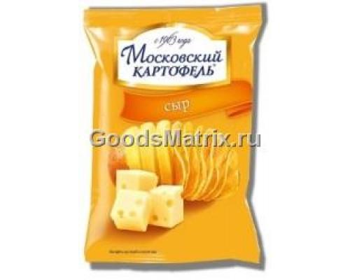 Чипсы картофельные ТМ Московский картофель, с сыром, 130 г