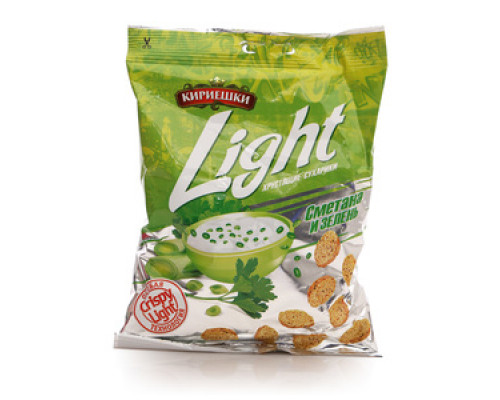 Сухарики со вкусом сметаны с зеленью ТМ Кириешки