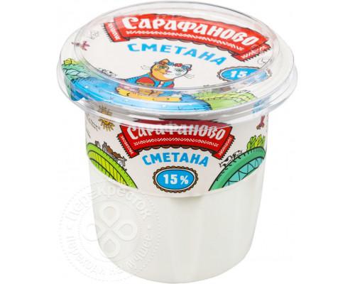 Сметана ТМ Сарафаново, 15%, 180 г