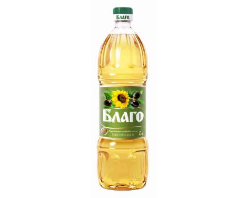 Масло Благо смесь подсолнечного и оливкового 1л