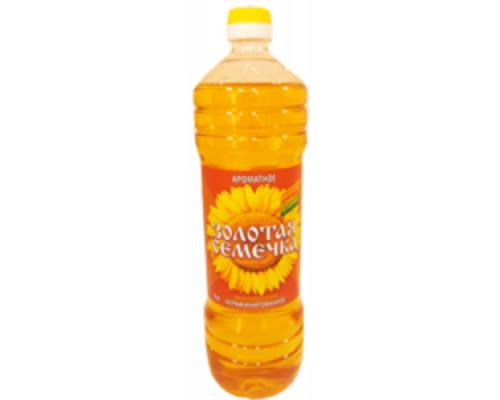 Подсолнечное масло ТМ ТМ Золотая семечка, нерафинированное ароматное 1 л
