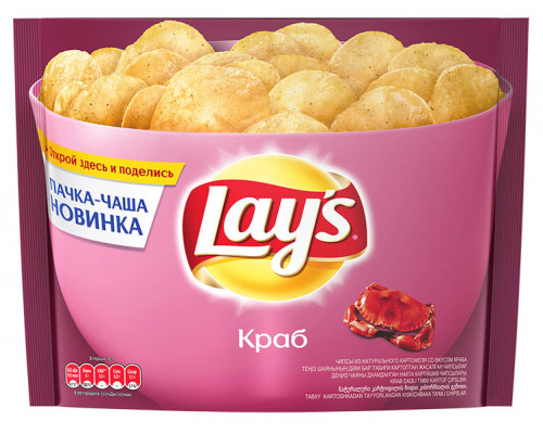 Чипсы ТМ Lay`s (Лэйс) со вкусом краба, 240 г