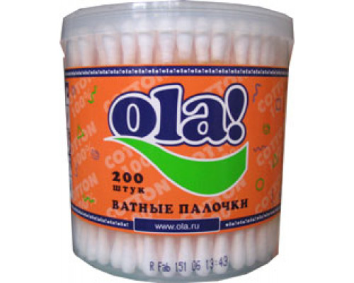 Ватные палочки ТМ Ola! (Ола!) Silk Sense, 200 шт.