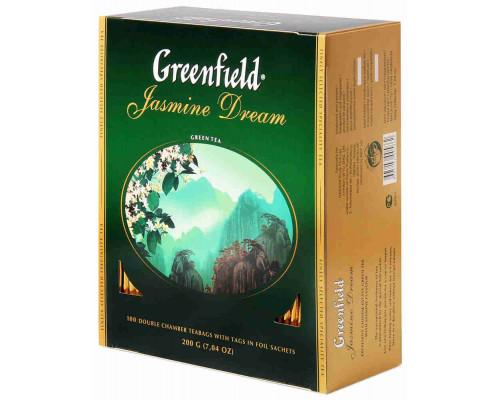 Чай зеленый Greenfield Жасмин Дрим 100пак