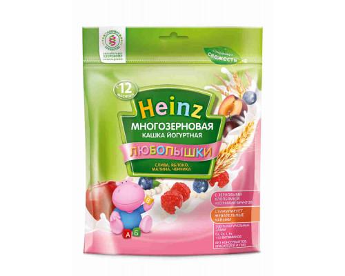 Кашка фруктово-йогуртная Heinz Любопышки многозерновая слива/яблоко/малина/черника 200г
