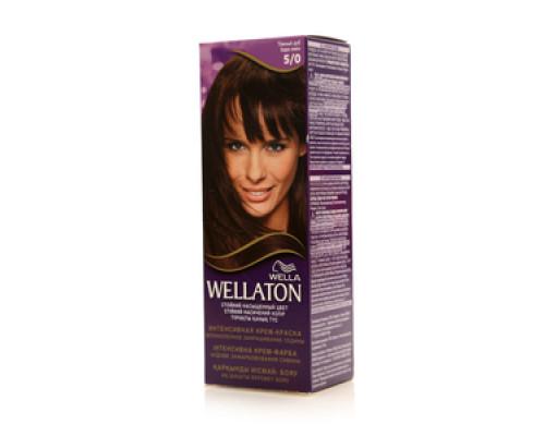 Интенсивная крем-краска Wellaton 5/0 Темный дуб ТМ Wella (Велла)