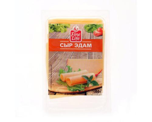 Сыр Эдам ТМ Fine Life (Файн Лайф), нарезка, 40%, 300 г