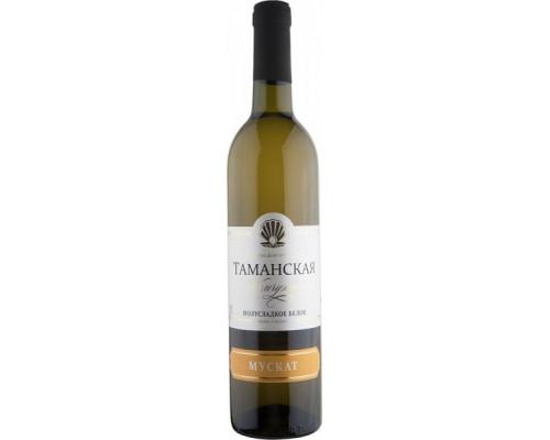 Вино столовое Таманская Жемчужина Мускат, белое, полусладкое, 10-12 %, 0,7 л