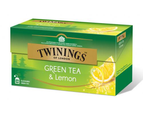 Чай зеленый ТМ Twinings (Твайнингс) с лимоном, 25 пак.