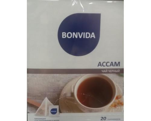 Чай ТМ Bonvida (Бонвида) Ассам, 20 пирамидок, 40 г.