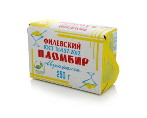 Мороженое пломбир ванильный Филевский 12% ТМ Айсберри