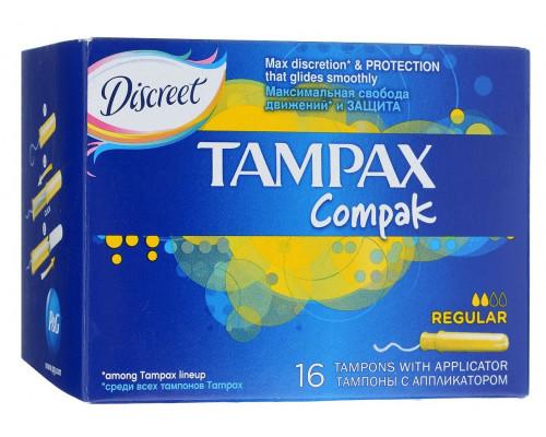 Тампоны с аппликатором ТМ Tampax (Тампакс) Compak Regular, 16 шт.