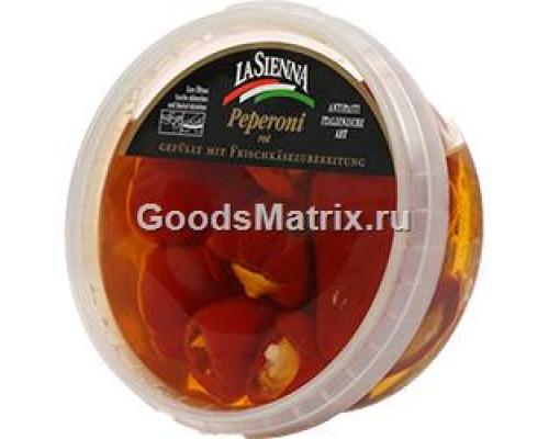 Красный перец ТМ La Sienna (Ла Сиенна), фаршированный сыром, 250 г