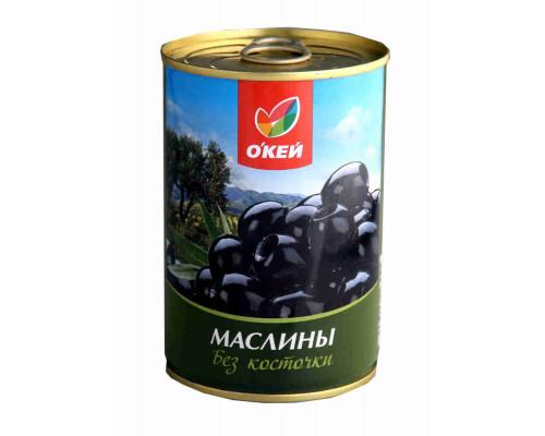 Маслины ТМ О`кей, черные без косточки 420 г