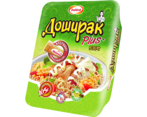 Лапша ТМ Doshirak (Доширак) Plus со вкусом курицы, 105 г