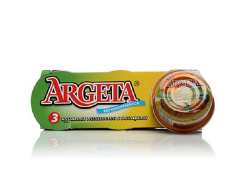 Куриный паштет с овощами 3*95 г TM Argeta (Аргета)