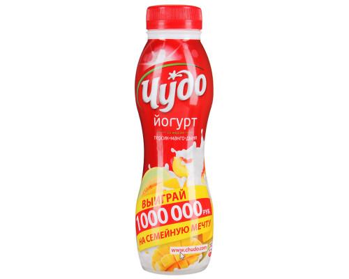 Йогурт питьевой ЧУДО персик-манго-дыня 2,4% 270 г