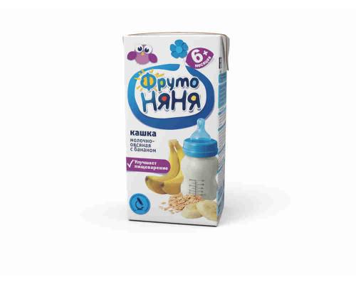 Каша молочная ФрутоНяня овсяная с бананом с 6мес 200мл т/пак