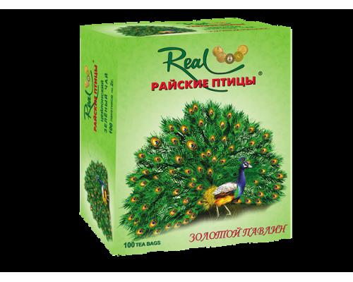 Чай зеленый ТМ Real (Реал) Райские птицы Золотой павлин, 100х2 г
